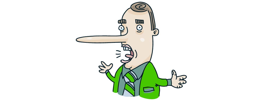 Dominante Körperhaltung erleichtert Lügen